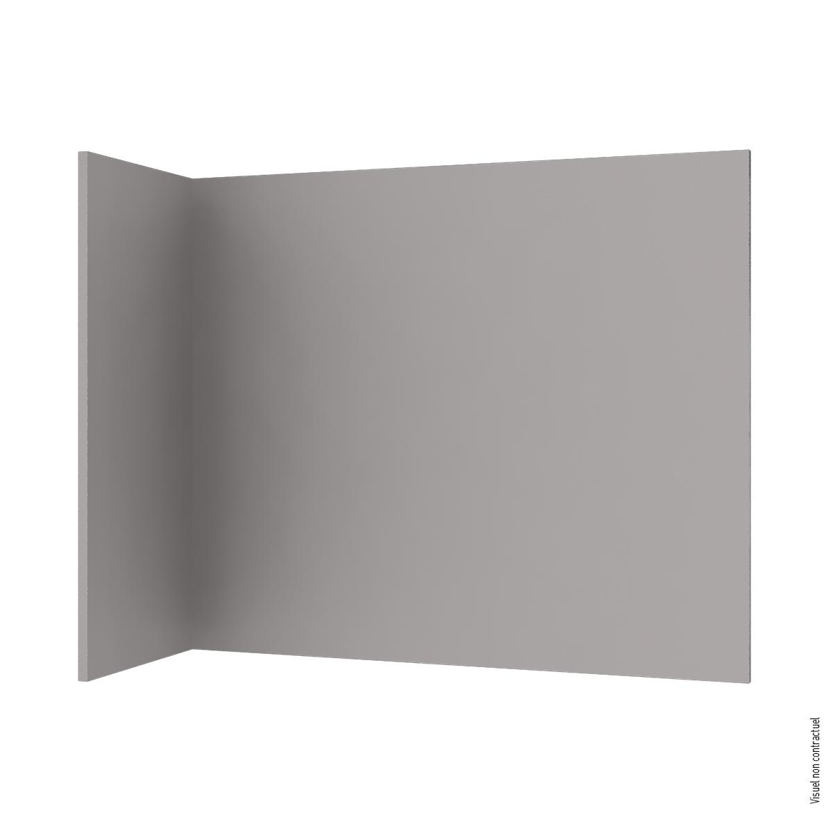 Solid-color textile covered partition H3000 mm - Pebble gray