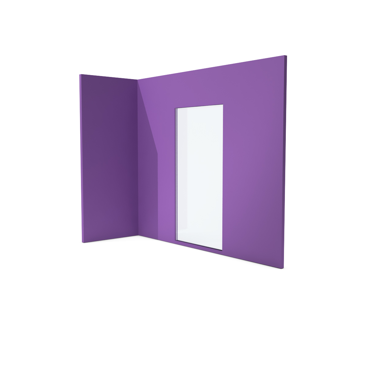 Glass partition - Lilac