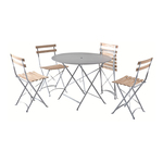 Square Set: 4 Square Chairs + 1 Square Table